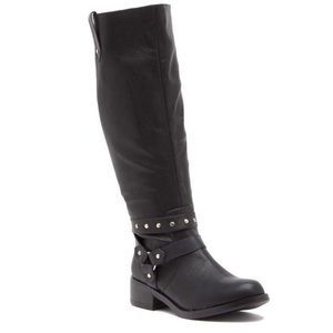 Abound Moto Tall Studded Boots Retail $110